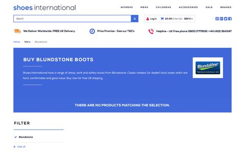 Screenshot of shoesinternational.co.uk - Buy Blundstone Boots | Shoes International - captured Aug. 20, 2017