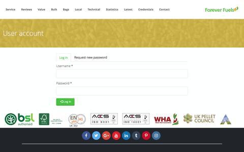Screenshot of Login Page forever-fuels.com - User account | Forever Fuels - captured Nov. 25, 2016