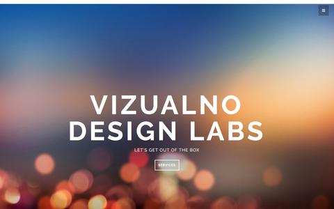 Screenshot of Home Page vizualno.com - VIZUALNO - captured Feb. 25, 2016