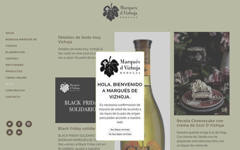 Screenshot of Blog marquesdevizhoja.com - Noticias - Marqués de Vizhoja - captured March 25, 2017