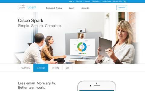 Cisco Spark. Team messaging.
