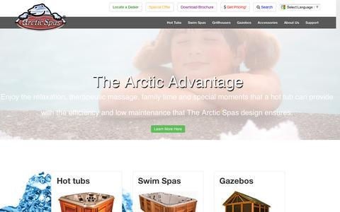 Screenshot of Home Page arcticspas.com - Hot Tubs For Sale   Arctic Spas ®: Engineered for Extreme Climates - captured Nov. 20, 2016