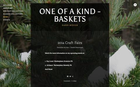Screenshot of Press Page oneofakindbaskets.com - News — One Of A Kind - Baskets - captured Oct. 7, 2014