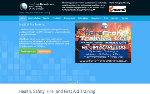 Screenshot of Home Page forefronttraining.co.uk - Home - Forefront Training - captured Oct. 14, 2017