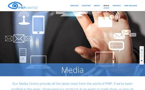 Screenshot of Press Page ipmg.com.au - PMP Limited - Media - captured July 27, 2018