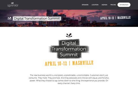 Sprinklr Digital Transformation Summit