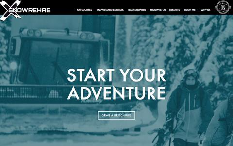 Screenshot of Home Page snowrehab.com - Ski & Snowboard Instructor Courses & Backcountry Holidays in Canada | Snow Rehab - captured Dec. 2, 2015