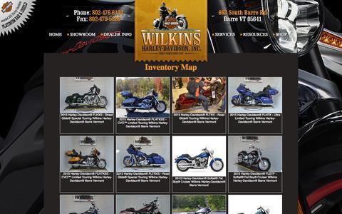Screenshot of Site Map Page wilkinsharley.com - Inventorymap   Wilkins Harley-Davidson®   Barre Vermont - captured Oct. 7, 2014