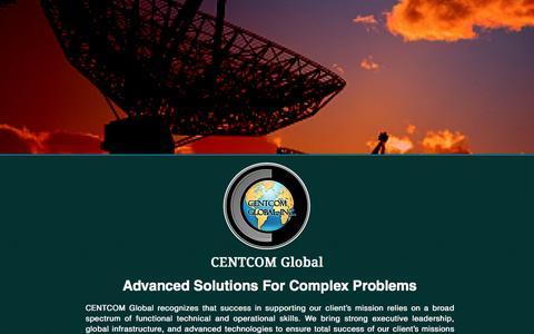 Screenshot of Home Page centcomglobal.com - CENTCOM Global - captured Jan. 26, 2016