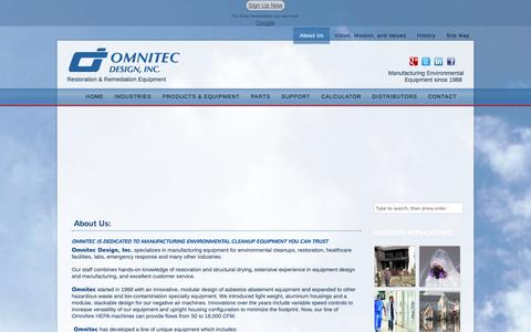 Screenshot of About Page omnitecdesign.com - About Us -Learn more about Omnitec Design Inc - captured Oct. 26, 2014