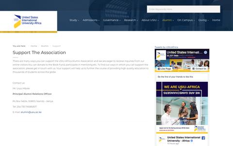 Screenshot of Support Page usiu.ac.ke - Support - captured Nov. 16, 2018