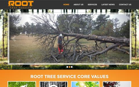 Screenshot of Home Page roottreeservice.com - A Family Owned & Operated Tree Service Company | Root Tree Service - Root Tree Service - captured Jan. 26, 2015