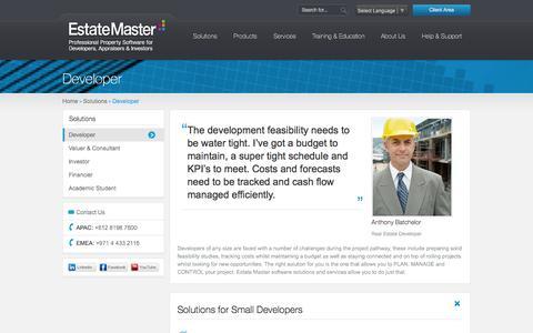 Screenshot of Developers Page estatemaster.com - Estate Master | Property Software Solutions For Developers - captured Oct. 31, 2014