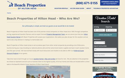 Screenshot of About Page beach-property.com - Meet the Team | Beach Properties of Hilton Head - captured Oct. 5, 2018