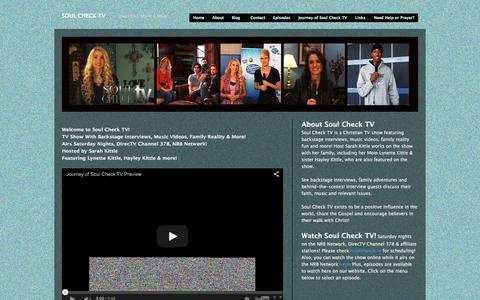 Screenshot of Home Page soulchecktv.com - Soul Check TV | Interviews, Music & More! - captured Sept. 29, 2015