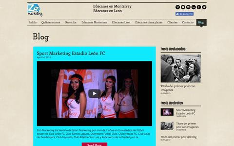 Screenshot of Blog zoomarketing.com.mx - Edecanes Monterrey - captured Dec. 20, 2016