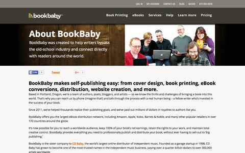Screenshot of About Page bookbaby.com - About BookBaby | BookBaby - captured Jan. 6, 2016