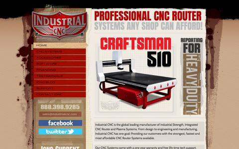 Screenshot of Home Page industrialcnc.com - CNC Routers | Industrial CNC Routers | Afforadable CNC Routers | Intergrated CNC Routers | Router Systems - captured July 10, 2018