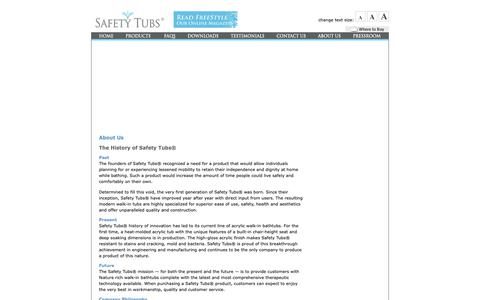 Screenshot of About Page americanstandard-us.com - About Us  |  Safety Tubs - captured Oct. 1, 2018
