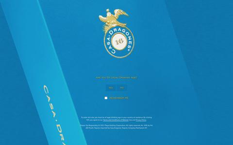 Screenshot of Signup Page casadragones.com - Sign Up - Tequila Casa Dragones - captured Dec. 7, 2015