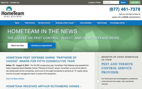 Screenshot of Press Page pestdefense.com - Latest Pest Control, Insect, and Home Defense News | HomeTeam - captured Nov. 25, 2015