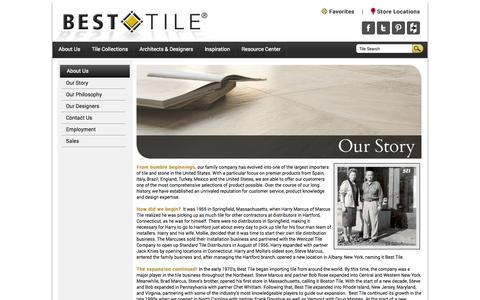 Screenshot of About Page besttile.com - About Best Tile of MA, MD, NC, NJ, NY, PA, RI, VA, VT - captured Sept. 30, 2014
