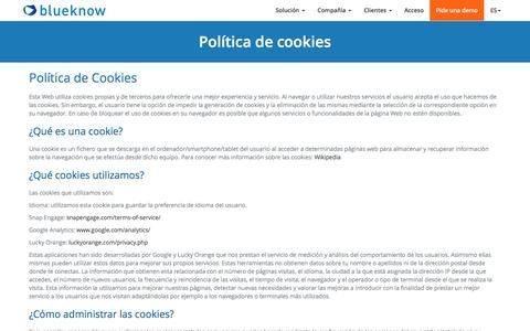 Política de cookies - blueknow