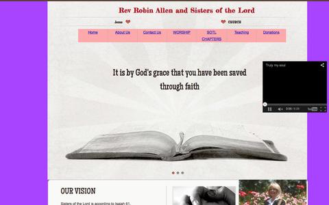 Screenshot of Privacy Page sistersofthelord.com - Home - captured Feb. 1, 2016