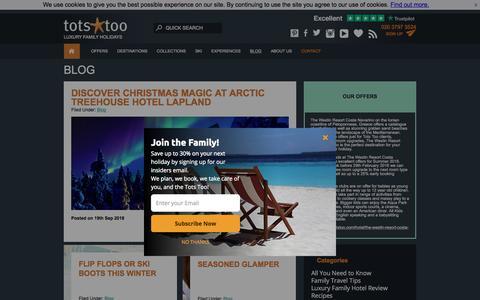 Screenshot of Blog totstoo.com - Blog - Tots Too - captured Sept. 23, 2018
