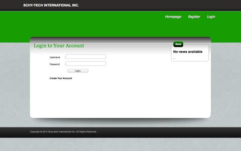 Screenshot of Login Page seagote.com - Schy-tech International Inc. - captured Oct. 4, 2014
