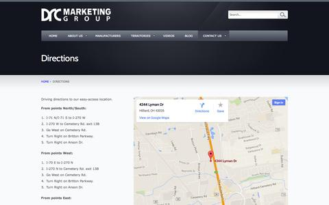 Screenshot of Maps & Directions Page drcmktg.com - Directions – DRC Marketing Group, Inc. - captured Oct. 5, 2014