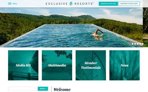 Screenshot of Press Page exclusiveresorts.com - Exclusive Resorts MediaRoom - Welcome - captured Oct. 1, 2015