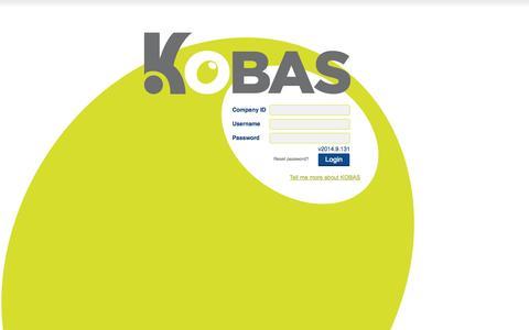 Screenshot of Login Page kobas.co.uk - KOBAS :: Welcome - captured Sept. 30, 2014