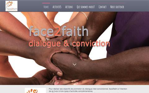 Screenshot of Home Page face2faith.eu - Face2faith Dialogue et conviction - captured Oct. 14, 2017