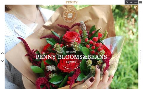 Screenshot of Home Page penny.com.tr - Penny | Blooms & Beans - captured Oct. 31, 2016
