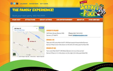 Screenshot of Maps & Directions Page sonnysplace.com - Directions - Sonny's Place - captured Oct. 9, 2014
