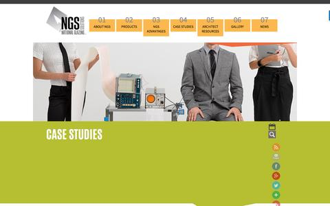 Screenshot of Case Studies Page nationalglazingsolutions.com - Case Studies - National Glazing Solutions - captured Dec. 9, 2016