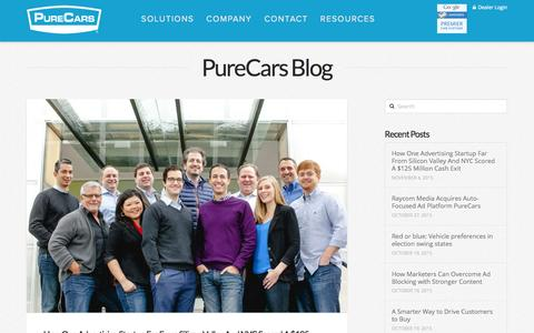 Screenshot of Blog purecars.com - PureCars Archives - PureCars - captured Nov. 18, 2015