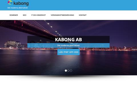 Screenshot of Home Page kabongab.se - Kabong AB � Det moderna alternativet - captured Jan. 9, 2016