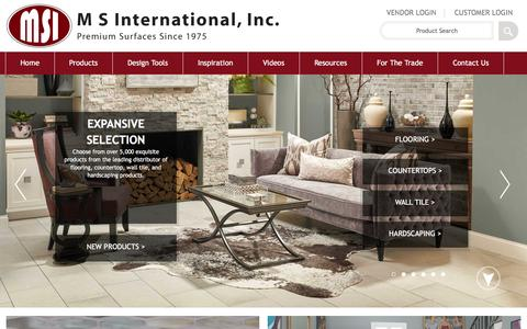 Screenshot of Home Page msistone.com - Natural Stone | Natural Stone and Porcelain Distributor | MSI Stone - captured Dec. 11, 2015