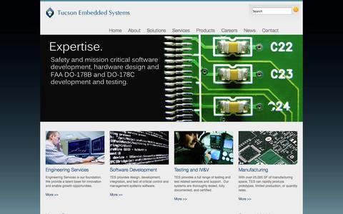 Screenshot of Home Page tucsonembedded.com - Tucson Embedded Systems > Home - captured Oct. 7, 2014