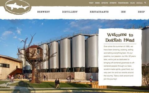 Screenshot of Home Page dogfish.com - Dogfish Head Craft Brewed Ales | Off Centered Stuff For Off Centered People | - captured Oct. 12, 2017