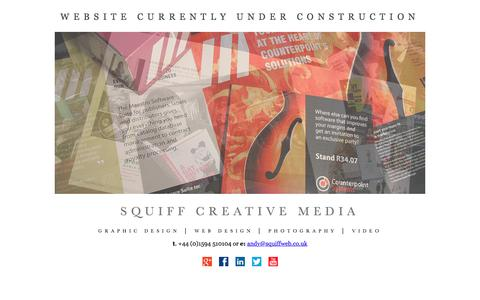 Screenshot of Home Page squiffweb.co.uk - squiff creative media - captured Dec. 1, 2016