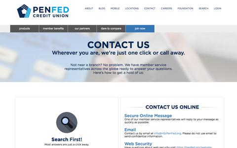Contact Us - PenFed