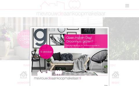 Screenshot of Home Page mevrouwdeaankoopmakelaar.nl - Home - Mevrouw de Aankoopmakelaar - captured Sept. 20, 2018