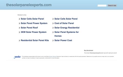 thesolarpanelexperts.com-This website is for sale!-thesolarpanelexperts Resources and Information.