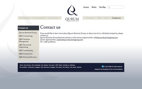 Screenshot of Contact Page qurumbusinessgroup.com - Contact us   Qurum Business Group - captured Oct. 1, 2014