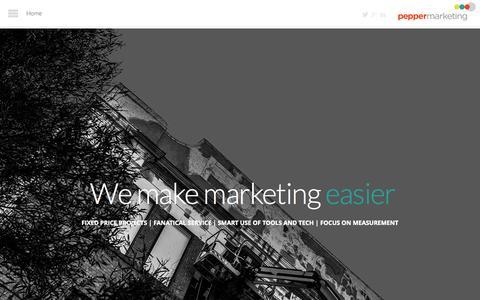 Screenshot of Home Page peppermarketing.com.au - Home - Pepper Marketing - captured Jan. 18, 2015