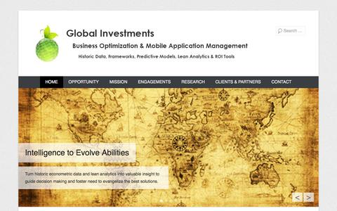 Screenshot of Home Page Menu Page glbvst.com - Global Investments - captured Oct. 2, 2014