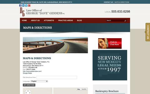 """Screenshot of Maps & Directions Page giddenslaw.com - Maps & Directions 